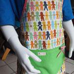 Kinderschürze Menschenkette