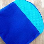 8) Handtaschenbegleiter Blau / Türkis Muster