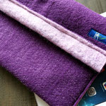 Tablet-Hülle Fleece - Lila