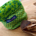 Stoffkorb Grün Karomuster, klein