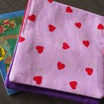 Kinderbuch - Hüllen - klein - Rose Herzen