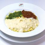【イタリアントリコロールパスタ】  贅沢な3種類のソースを味わいたい時はコレ!