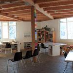Die Maltherapie im Werkstattgebäude