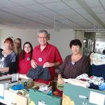 Une partie de l'équipe de bénévoles en charge des Restos BB