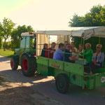 Weinbergsrundfahrt mit unseren Gästen bei strahlendem Sonnenschein
