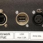 Anschlusspanel RJ-45 USB XLR