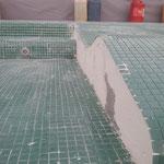 supresión de fichas cortadas en las camas, aristado y ficha entera en toda la obra