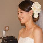 結婚式当日-挙式ヘッドピース-