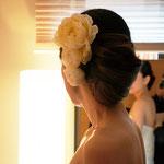 結婚式当日-挙式髪型-