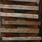 Das zum trocknen gestapelte Holz.