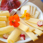 Wir verwöhnen Sie mit einem reichhaltigen Frühstück (Käse, Müesli, meist selbstgebackenes Brot