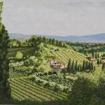environs de San Gimignano, Toscane