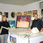 Einrahmungs-Beratung im Atelier Wattwil