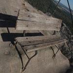 Gipfelbank an den Schrammsteinen