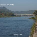 Höhenverhältnisse an der Elbe