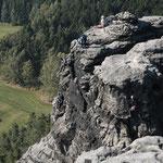 Kletterturm an den Papststeinen
