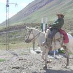Ein Gauchos kommt vom Basislager zurück