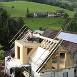 Umbau Dachgschoss mit sichtbarem Dachstuhl