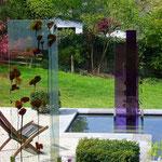 Glasstelen I und II, Kurpark Bad Pyrmont, Entwurf: Natalja Laj, Umsetzung Glasmalerei Peters Paderborn, 2009