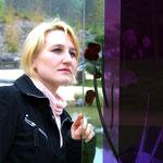 Glasstele II im Kurpark Bad Pyrmont, Entwurf: Natalja Laj, Umsetzung Glasmalerei Peters Paderborn, 2009