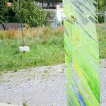 Glasstele im Privatbesitz, Paderborn, 2011