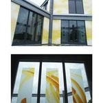 Sichtschutz Galeria Baudesign, Entwurf Natalja Laj, Umsetzung Glasmalerei Peters, Paderborn, 2008