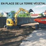 Mise en place de la terre végétale