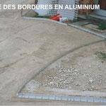 Pose des bordures en aluminium