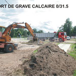 Apport de grave calcaire 0/31,5