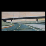 Fly-over no1. Oil on linen. 110x45. sold