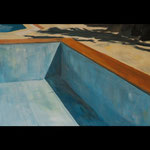 Swimming pool no1. Oil on linen. 90x60