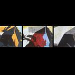Triplet. Acrylic on board. 3 x 93x67