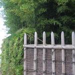 桂垣と竹穂垣が交わるところ