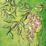 Glicine_Acrilico su cartoncino telato_anno 2005