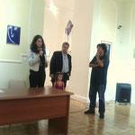Dott.ssa Cipparrone, Assessore alla cultura di Cosenza Dott. De Rose