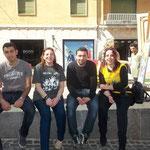 nuovi amici palestinesi di cui un bravissimo artista e con Rita Mantuano