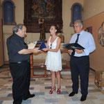 Consegna dell'omaggio da parte del Comune al M° Luigi Greco