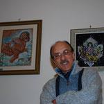 Filippo Mazzei (Pittore) alle spalle le sue opere