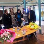 da sx io, Alessandra Primicerio, Giuliana Franco (poetessa e pittrice digitale), Ciccio De Rose (poeta e scrittore cosentino)