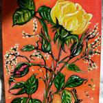 Rose e nebbiolina_Acrilico su cartoncino telato_anno 2006