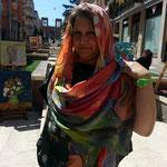 Luigia Granata, direttore artistico UCAI di Cosenza e organizzatrice per la parte associativa dell'evento con don Mazzi, nonchè bravissima e famosa pittrice cosentina