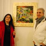 Katia Di Leone e Davide Noviello (lei scrittrice lui artista della fotografia e della pittura)