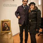 Maria Antonietta Gullo con il sindaco di Castrolibero Giovanni Greco