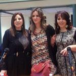 da sx io, Alessandra Primicerio (critico d'arte) e Rita Mantuano (pittrice iconografa e moderatrice evento come membro dell'Accademia di'i Pignatari))