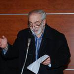Ciccio De Rose (poeta e scrittore cosentino) mentre declama una sua versione poetica del Natale