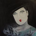 """""""Malinconico Pierrot""""_Acrilico su tela_50x50_2014"""