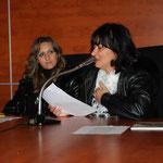 Giuliana Franco (Vice Presidente UCAI) nella lettura di una sua poesia sul Natale
