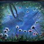 Dal fondo di uno stagno_Acrilico su tela_anno 2009