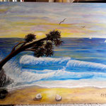 """Alba marina""_Acrilico su tela_50x70_2015"