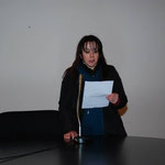 Rita Mantuano (pittrice-iconografa-poetessa) nella lettura di una sua poesia sul Natale